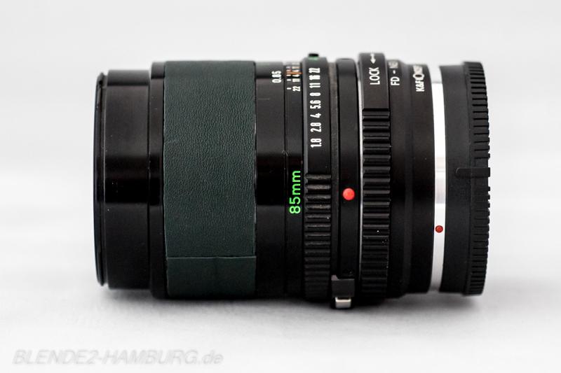 Canon FD 85 mm, f1,8
