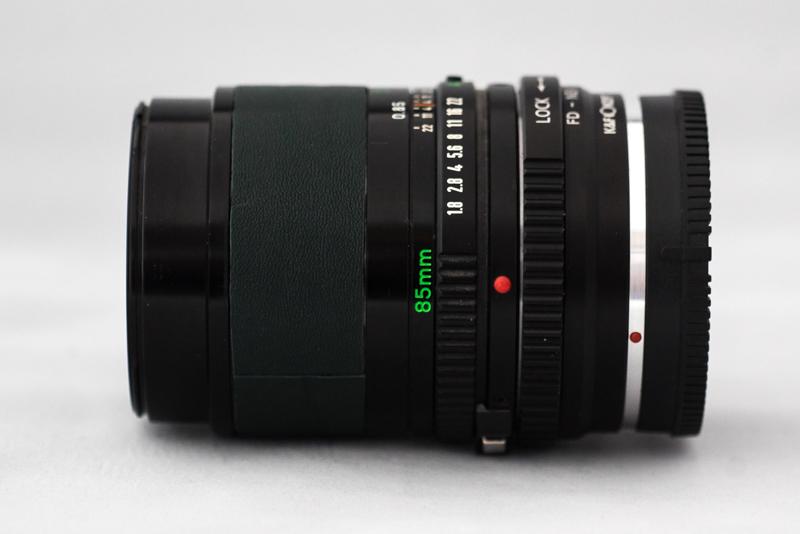 Canon FD 85 mm, 1,8