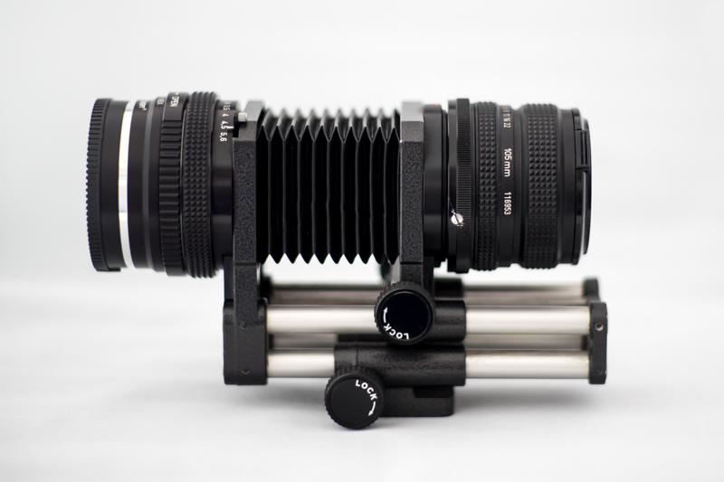 Balgengerät Novoflex mit 105 mm Objektiv